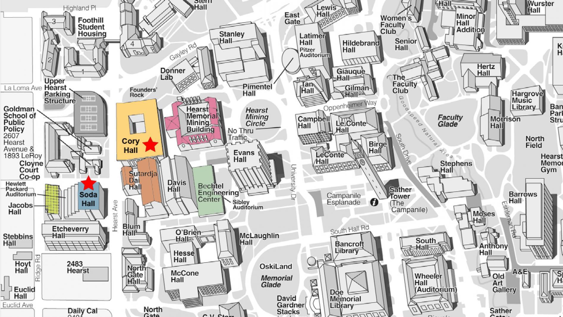 uc berkely campus map Visiting Eecs Eecs At Uc Berkeley uc berkely campus map